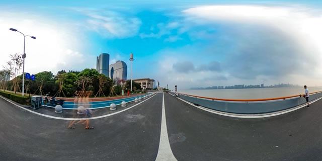 钱塘江畔360度全景图